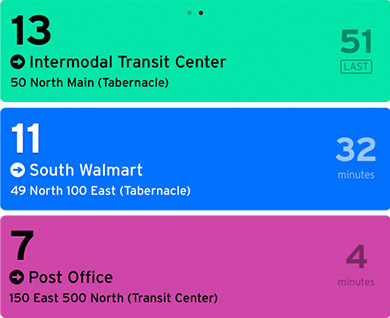 Screenshot of Transit App